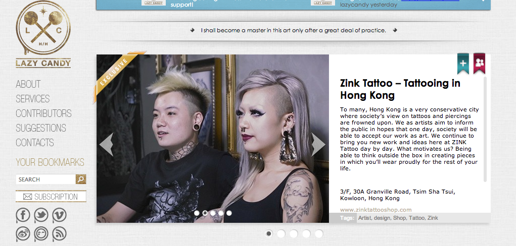 Lazy Candy Interview featuring ZINK Tattoo artists